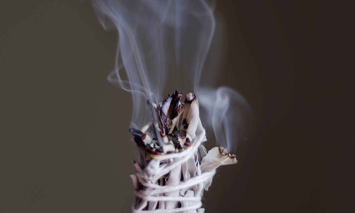 Smudging and Burning Sage To Clear Negative Energy | SARAH PROUT